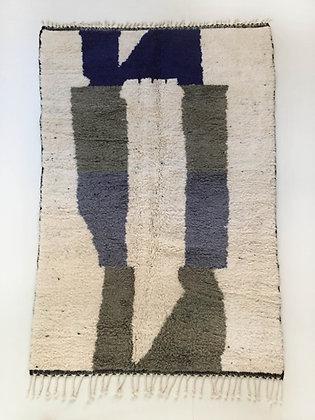 Tapis berbère Beni Ouarain à motifs colorés 2,64x1,64m