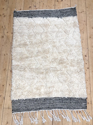 Tapis berbère Beni Ouarain à petits zigzags 1,6x1,09m