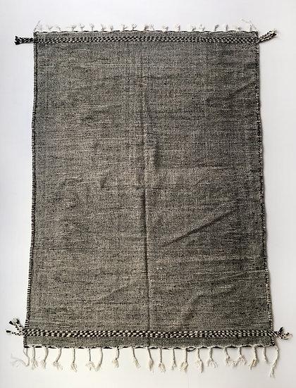 Kilim berbère Zanafi noir chiné 2,92x1,90m
