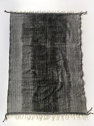 Kilim berbère gris, écru et noir 2,94x1,88m