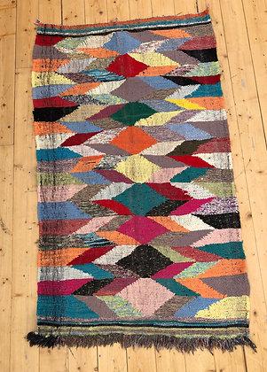 Tapis berbère Kilim Boucherouite 1,7x1,02m