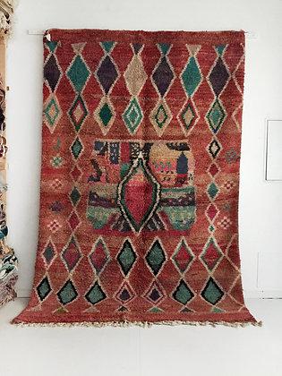 Tapis berbère Boujaad à motifs colorés 2,99x1,97m