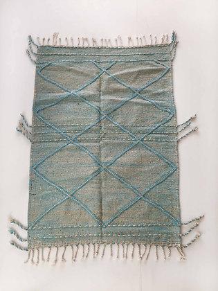 Kilim berbère Zanafi bleu clair 1,64x1,12m