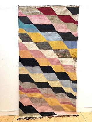 Tapis berbère Kilim Boucherouite 2,71x2,42m