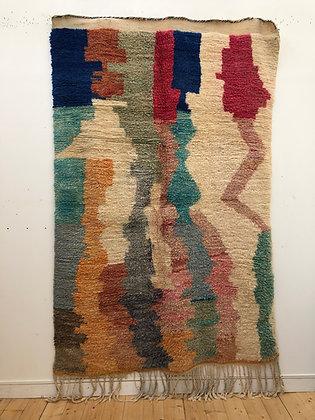 Tapis berbère Boujaad à motifs colorés 2,43x1,53m
