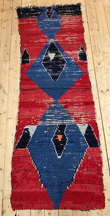 Tapis berbère Azilal vintage 2,64x0,95m