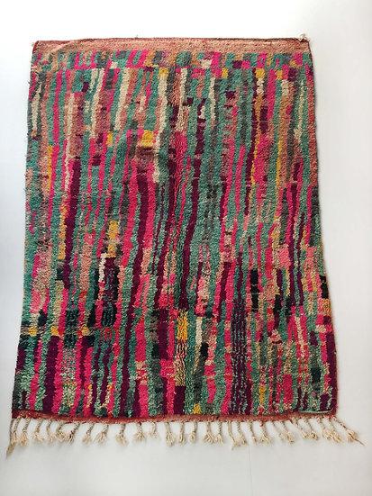 Tapis berbère Boujaad à motifs rayures colorés 2,32x1,69m