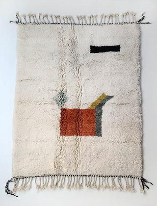 Tapis berbère Beni Ouarain à motifs colorés 2,22x1,62m
