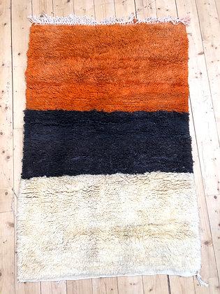 Tapis Boujaad tricolore 1,5x1m