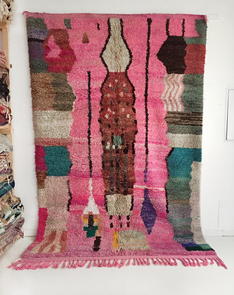 Tapis berbère Boujaad à motifs colorés 3,04x2,01m