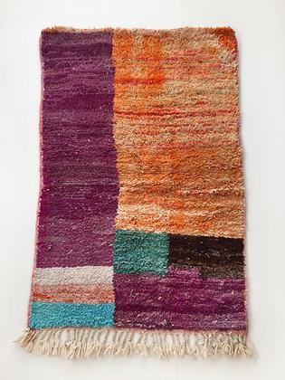 Tapis berbère Boujaad à aplats colorés 1,50x0,99m