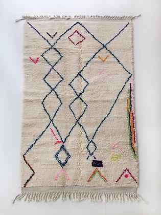 Tapis berbère Azilal à motifs colorés 2,56x1,47m