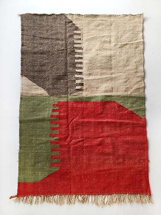 Kilim berbère à aplats colorés 2,45x1,50m
