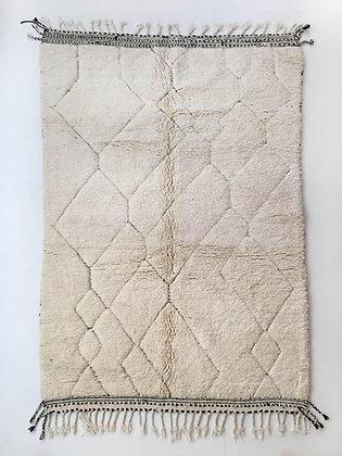 Tapis berbère Beni Ouarain uni à motifs gravés 2,56x1,60m