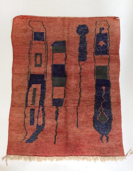 Tapis berbère Boujaad à motifs colorés 2,24x1,64m