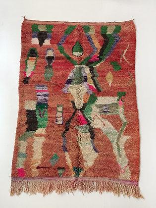 Tapis berbère Boujaad à motifs colorés 2,43x1,63m