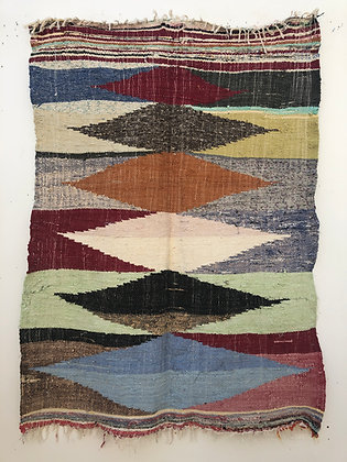 Tapis berbère Kilim Boucherouite 1,75x1,31m