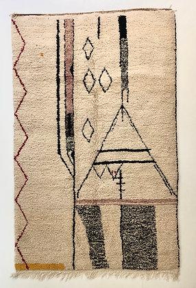Tapis berbère Azilal à motifs 2,5x1,61m