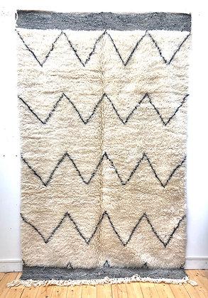 Tapis berbère Marmoucha à zigzags horizontaux 2,79x1,71m