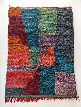 Tapis berbère Boujaad à aplats colorés 2,85x1,88m