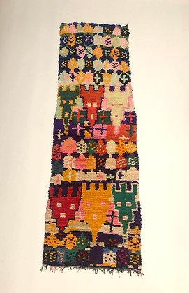 Tapis berbère Azilal vintage 2,17x0,75m