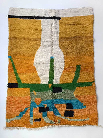 Tapis berbère Boujaad à motifs colorés 2,89x1,86m