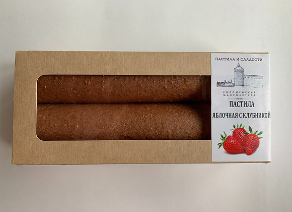 """Пастила """"Фруктово-ягодный десерт"""" Яблочная с клубникой"""