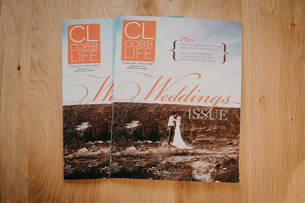 Cover shot of the wedding issue of Cobb Life which contains my article