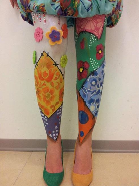 patchwork leg