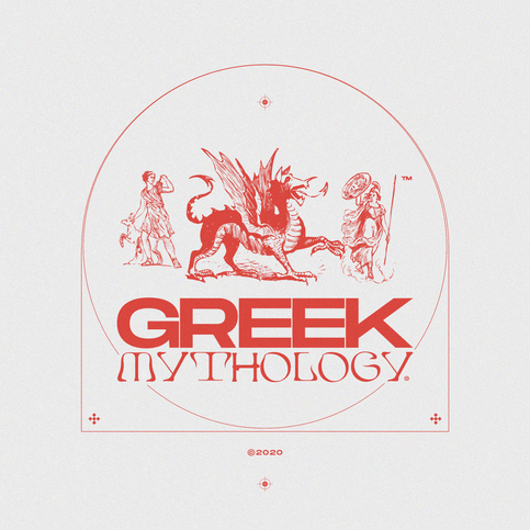 inspired by: greek mythology and race cars.   fonts: Edda & Monument Ext.