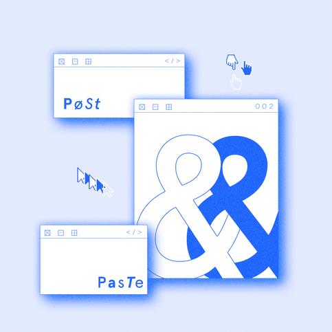 inspired by: vaporwave aesthetics & minimalism.   fonts: Apercu Pro & Altaic Grotesk