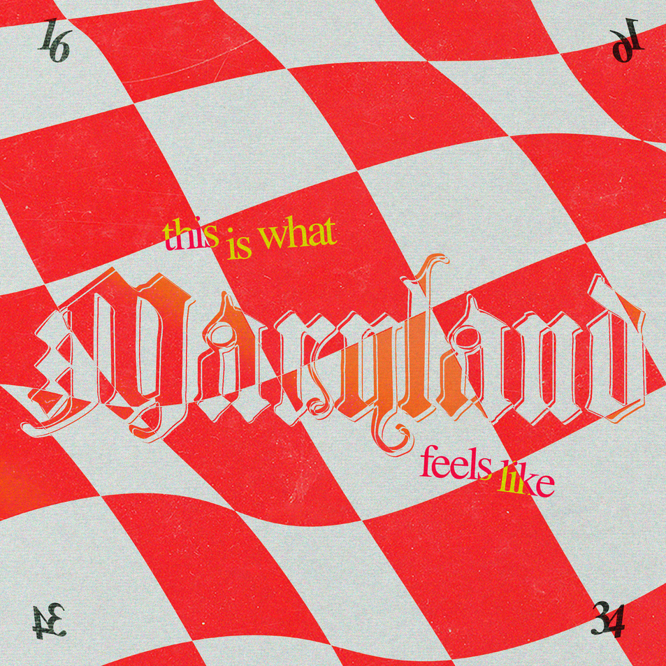 inspired by: the flag of Maryland.  fonts: Albrecht Durer Gothic & Times New Roman