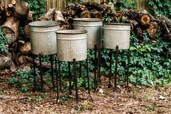 Galvanized Tin Planters