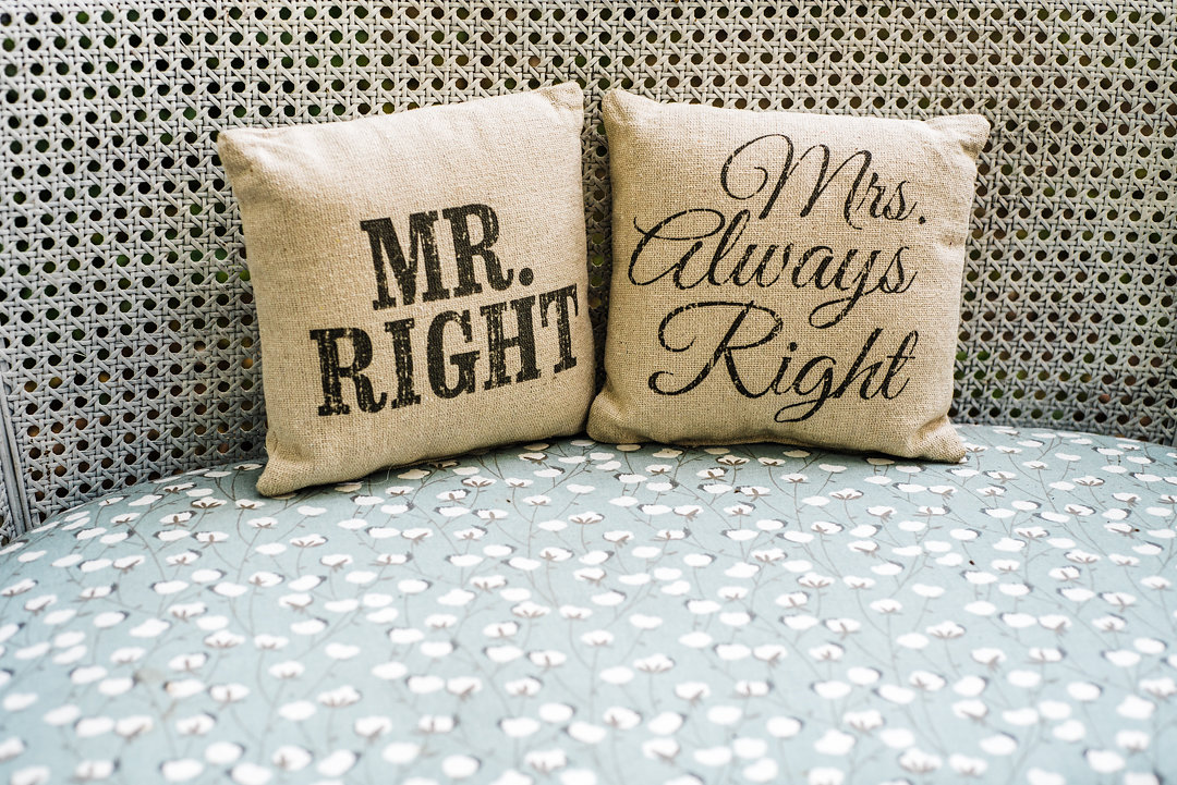 Mr. Right & Mrs. Always Right Pillow