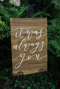 'It was always you' Board