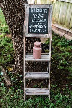 Chalk Board Ladder