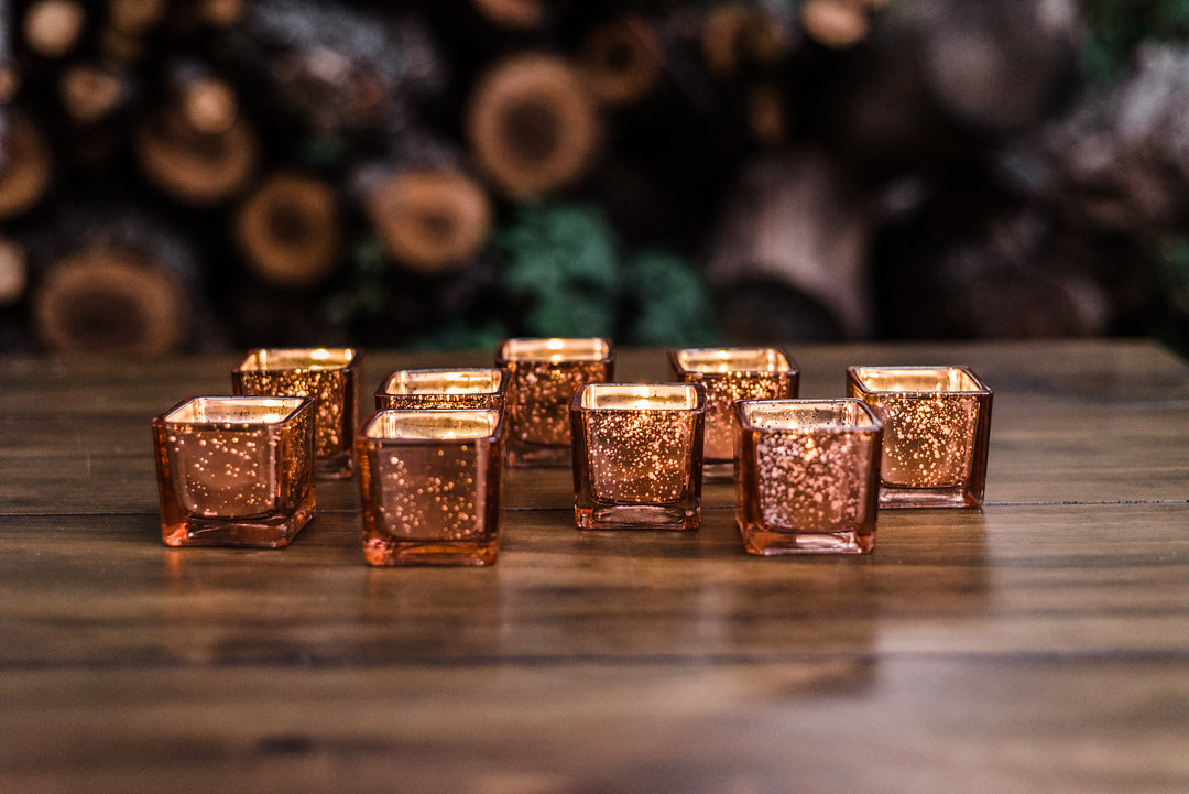 Rose Gold Votive Candle Holders
