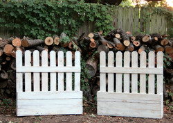 Picket Fence Flower Boxes