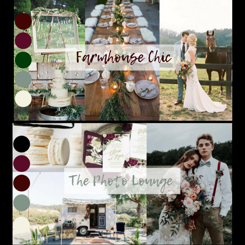Farmhouse Chic & The Photo Lounge (2 theme styled shoot)