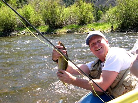Fly fishing on Rock Creek