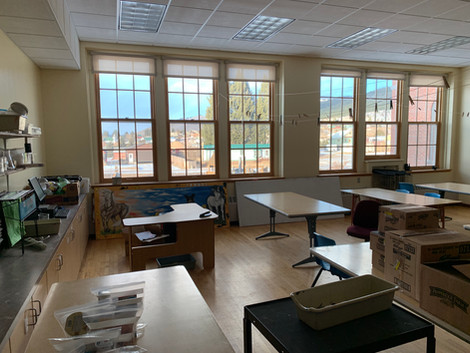 School classroom for Philipsburg Artist in Residence 2020