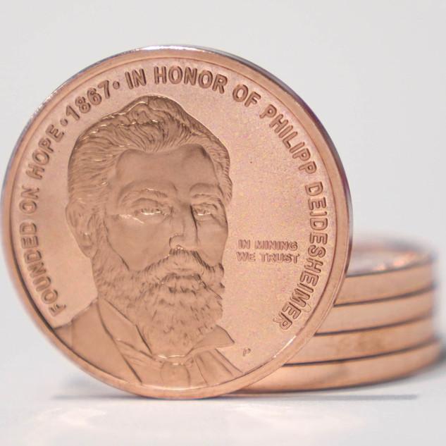 Philipsburg 150th Commemorative Copper Coin