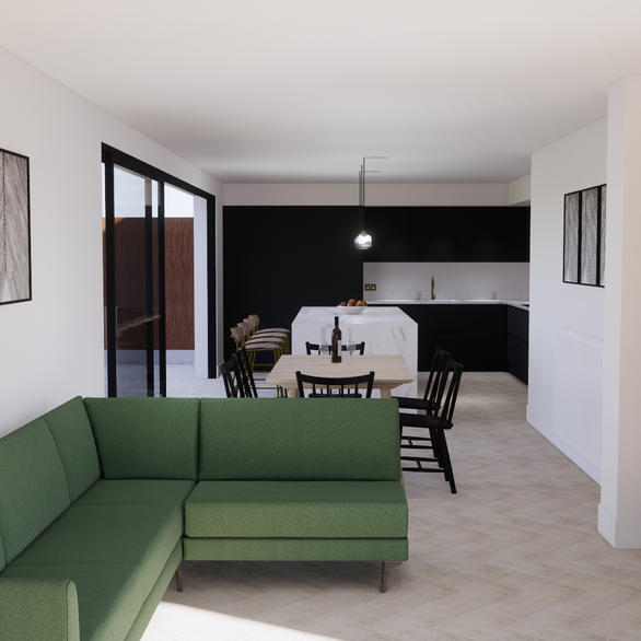 Open Plan 3D Render