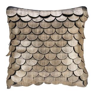 Leather Scalloped Cushion
