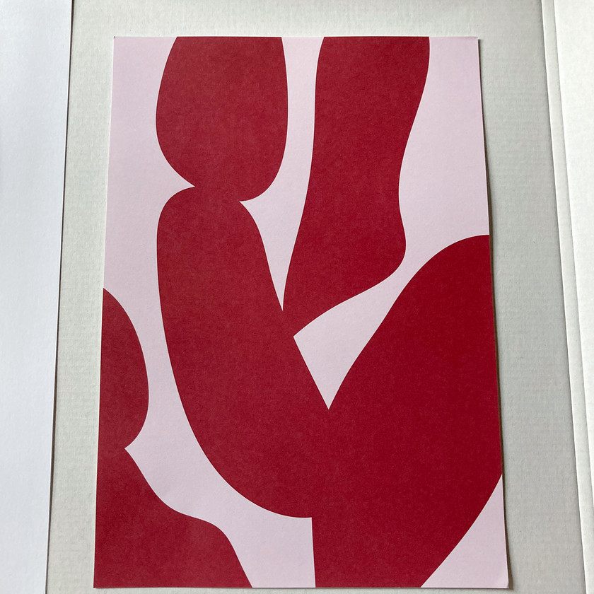 Red Shapes Poster