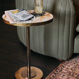 Pink Onyx Side Table