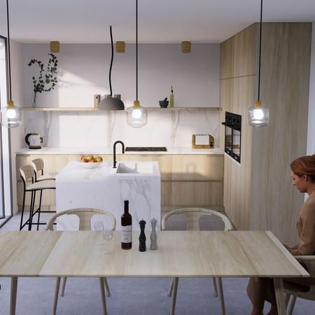 Kitchen Dining 3D Render