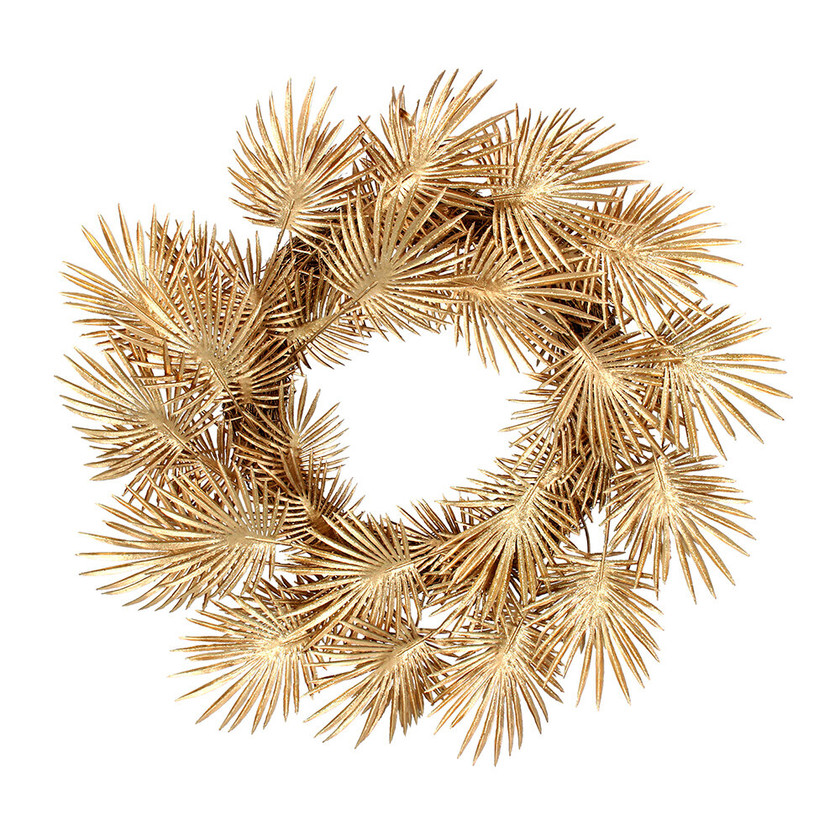 Gold Palm Wreath