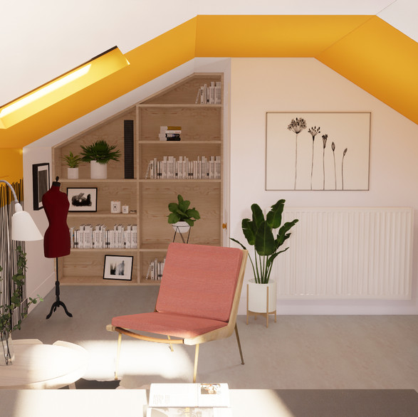 Home Office 3D Render
