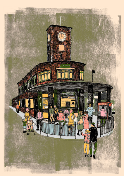 Under the Bus Station Clock